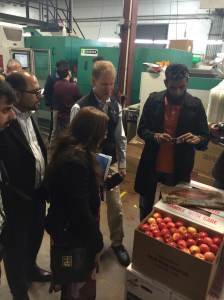 The Pakistani delegation made a visit to Hess Brother's Fruit Company to learn about trends in packaging materials and food safety.