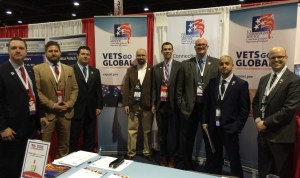 Our Vets Go Global team met with veteran-owned businesses at the National Veterans Small Business Engagement to provide export counseling.