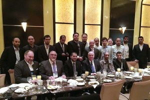 U.S. Ambassador to Saudi Arabia, Joseph W. Westphal, at breakfast with the delegation of Saudi Arabian companies brought to the International Electronics Show on January 8, 2015 in Las Vegas, Nevada by the U.S. Department of Commerce's International Buyer Program.