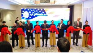 Celebrating the official opening of ITA's U.S. and Foreign Commercial Service Office in Wuhan, China, on February 3, 2015, are (left to right): Sara Kemp, Minister Counselor of Commercial Affairs, U.S. Embassy, Beijing; Patrick Santillo, ITA's Deputy Assistant Secretary for China; Mr. LI Zuoqing, Director General of the Wuhan Department of Commerce & Deputy Secretary General of Wuhan Municipal Government; Joseph Zadrozny, Consular General, U.S. Consulate Wuhan; and James Rigassio, Principal Commercial Officer, U.S. Consulate Guangzhou.