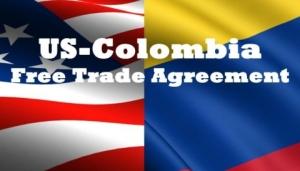 Decorative graphic representing U.S.-Colombia free trade agreement