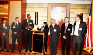 Commercial Attaché Totayo introduces U.S. companies at reception