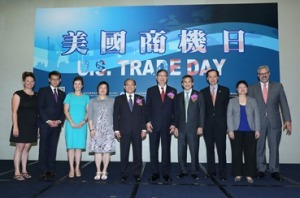 CS Taipei Senior Commercial Officer, Ireas Cook (second from right) with state representatives at the U.S. Trade Day opening ceremony.