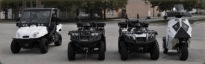 Full line of zero emission lithium ion iron phosphate battery powered vehicles