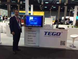 Tego's CEO, Timothy Butler, at an Internet of Things (IoT) trade show where we were giving demos of our IIoT platform solution.