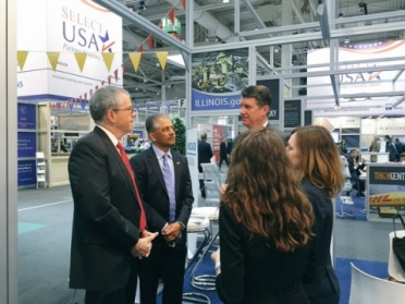 SelectUSA Executive Director Vinai Thummalapally Joins Deputy Commerce Secretary Bruce Andrews on Tour at Hannover Messe 2016