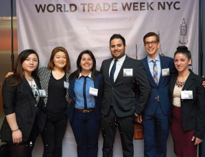 One of the Baruch international business capstone teams at World Trade Week NYC 2015