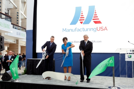 Secretary of Commerce Penny Pritzker opening the International Technology Manufacturing Show on September 12, 2016