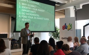 Carl Miller discusses the benefits of taking online retail global at the GRIN Lab on July 13 at Strategic Partner eBay's New York City office.