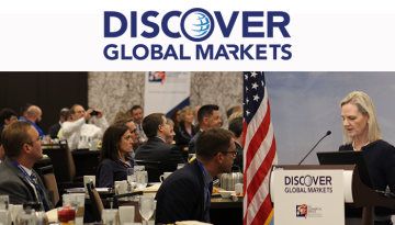 Attendees listen as Erin Walsh, Assistant Secretary of Commerce for Global Markets and Director General of the U.S. and Foreign Commercial Service delivers remarks on Sept. 18 in Cleveland.