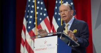 U.S. Commerce Secretary Wilbur Ross speaking to the audience at the 2017 SelectUSA Investment Summit.
