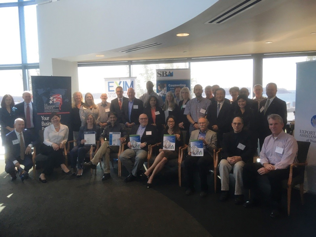 Participants of the EFACW Trade Finance Workshop pose for a photo on Sept. 14 at the World Trade Center Seattle.
