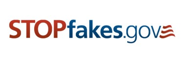 Logo for stopfakes.gov website