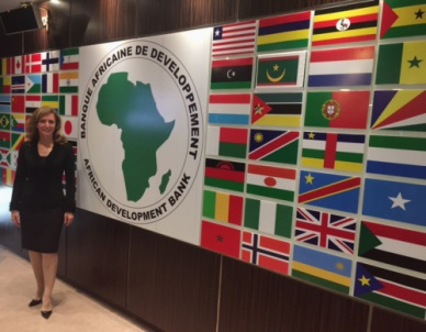 Laura and the rest of the PAC-DBIA delegation stopped by the African Development Bank.