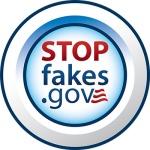StopFakes.gov logo round